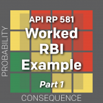 API RP 581 Risk-based Inspection Technology Demonstrating the Technology Through a Worked Example Problem