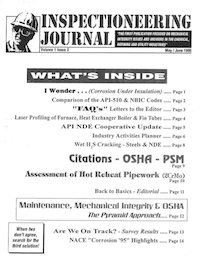 May/June 1995 Inspectioneering Journal
