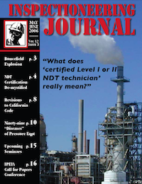 May/June 2006 Inspectioneering Journal