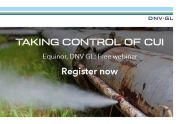 Webinar: Taking control of CUI - Equinor and DNV GL discuss live how the industry can better manage CUI risk