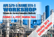 API 579/ASME FFS-1 Workshop