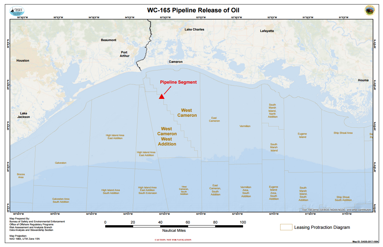BSEE and Coast Guard Respond to Pipeline Release