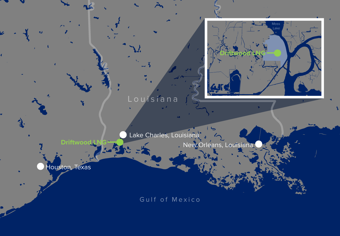 Driftwood LNG Project Map