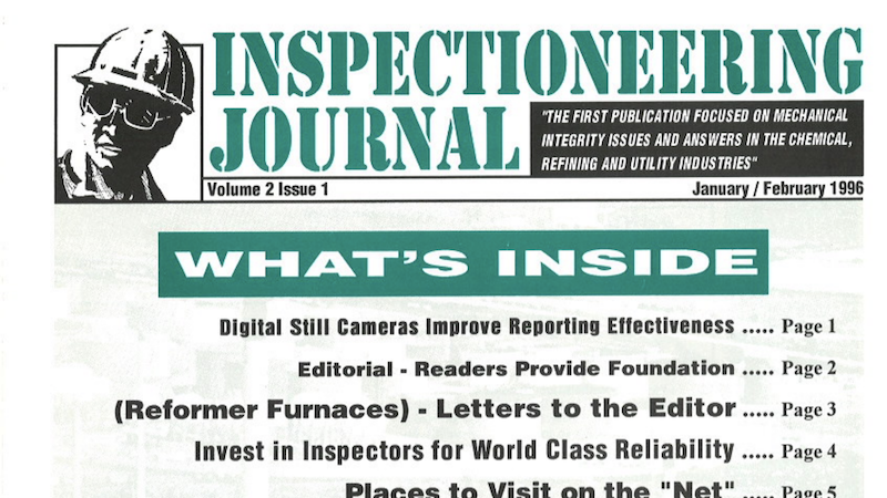 Do You Want World Class Reliability?  Invest in Your Pressure Equipment Inspectors