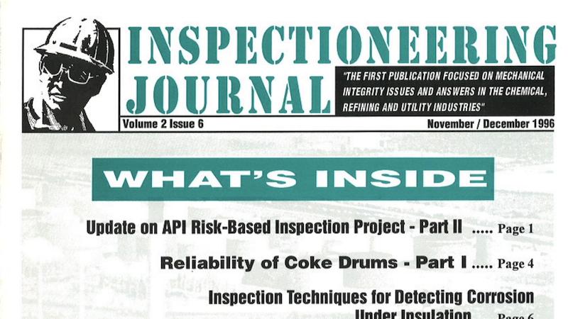 Update on API Risk-Based Inspection Project