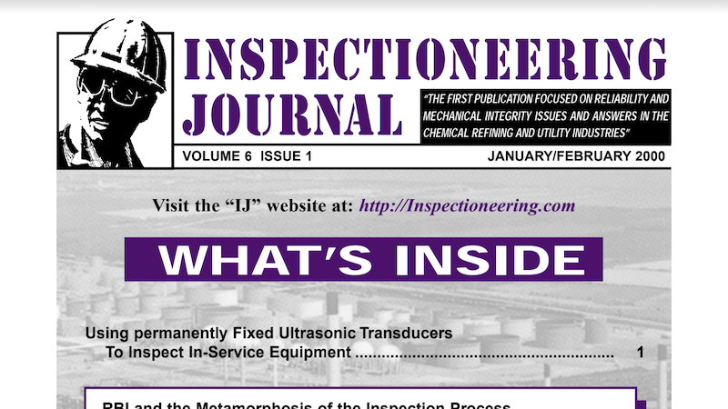Using permanently Fixed Ultrasonic Transducers To Inspect In-Service Equipment