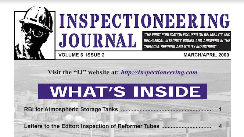 RBI for Atmospheric Storage Tanks
