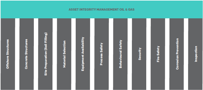 """Pillars"" of Asset Integrity Management, on which oil and gas asset depend"