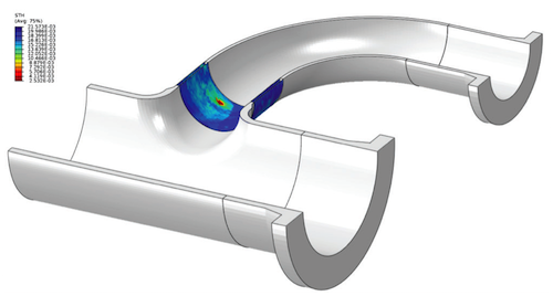 3D Finite Element Geometry Illustrating Integration of Inspected Component with Global Geometry.